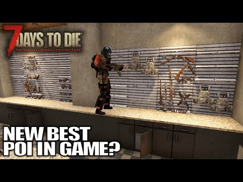New Alpha 19 POI is a DEATHTRAP! | 7 Days to Die Alpha 19 Gameplay | E08