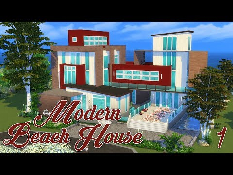 Modern Beach House - Exterior | 🐚 | Sims 4 Speed Build | @PenappleYT