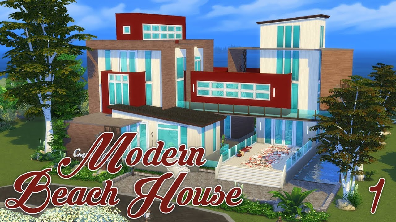 Modern Beach House   Exterior | 🐚 | Sims 4 Speed Build | @PenappleYT