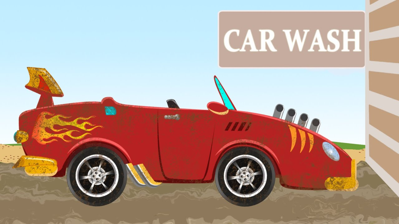 sports car car wash games for kids youtube