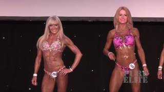 T Walk and quarter turns for Masters Fitness Model Karen Cobb