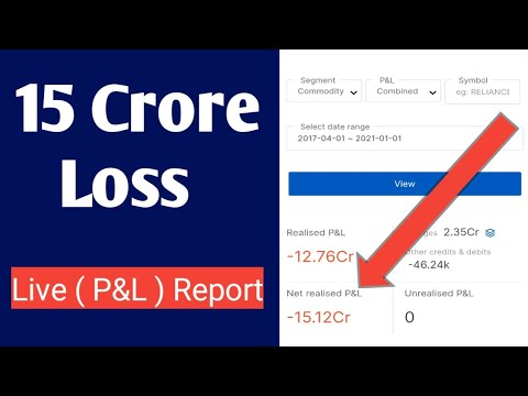 🔴 15 Crore Rupees Loss In Trading   Live Pu0026L Report