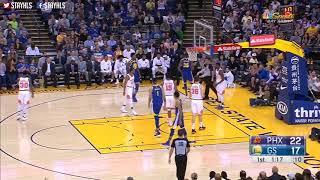 Golden State Warriors vs Phoenix Suns 1st Half Highlights / April 1 / 2017 18 NBA Season
