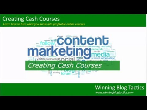 Creating Cash Courses: Module 02 - Why Online Courses