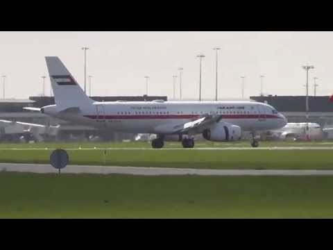 United Arab Emirates Government Landing @ Schiphol Airport 24-03-2014