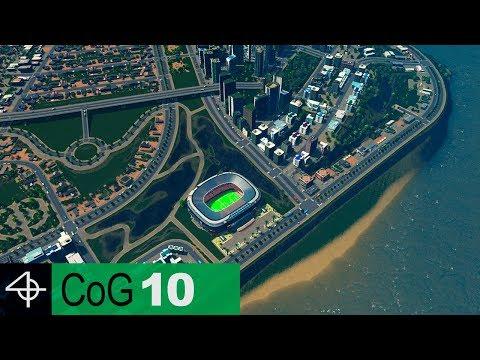 Coastal CITY STADIUM Layout | Cities: Skylines – City of Gardens SCENARIO, Part 10