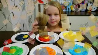 Учим цвета на русском и английском на Ютуб - большой сборник обучения цветам, названиям фруктов