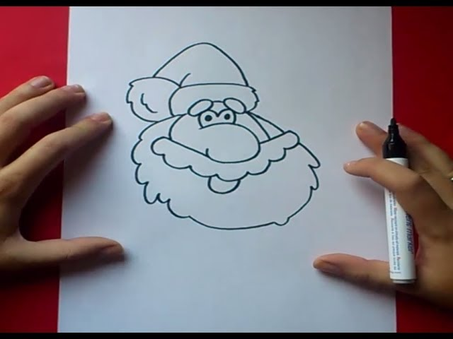 Como dibujar a papa noel paso a paso 2 | How to draw Santa Claus 2 Videos De Viajes