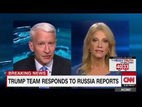 CNN Anderson Cooper Vs Trump senior adviser Kellyanne Conway  heated exchange