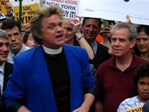 Reverend Billy (Bill Talen) at Atlantic Yards Protest 7.29.9