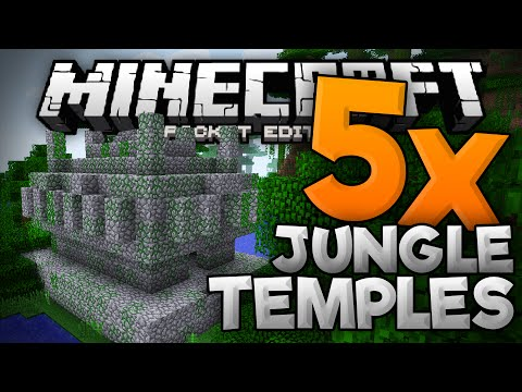 5 JUNGLE TEMPLES At SPAWN!!! - Best MCPE 0.15.1+ Temple Seed - Minecraft PE (Pocket Edition)