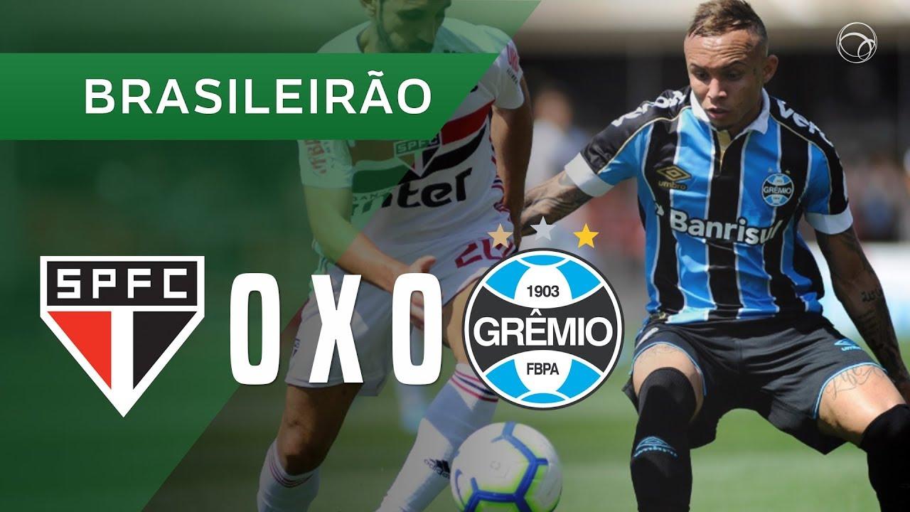 SÃO PAULO 0 X 0 GRÊMIO - MELHORES MOMENTOS - 31/08 - BRASILEIRÃO 2019 -  YouTube