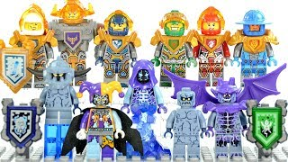 LEGO Nexo Knights Stone Monsters Accessory Set plus Unofficial Minifigures Axl Clay Aaron Lance Macy