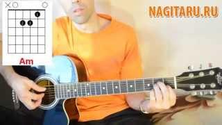 Начинающим - 7 простых аккордов на гитаре (тональность Am)