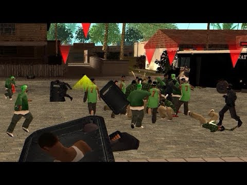 GTA San Andreas - Police vs Grove