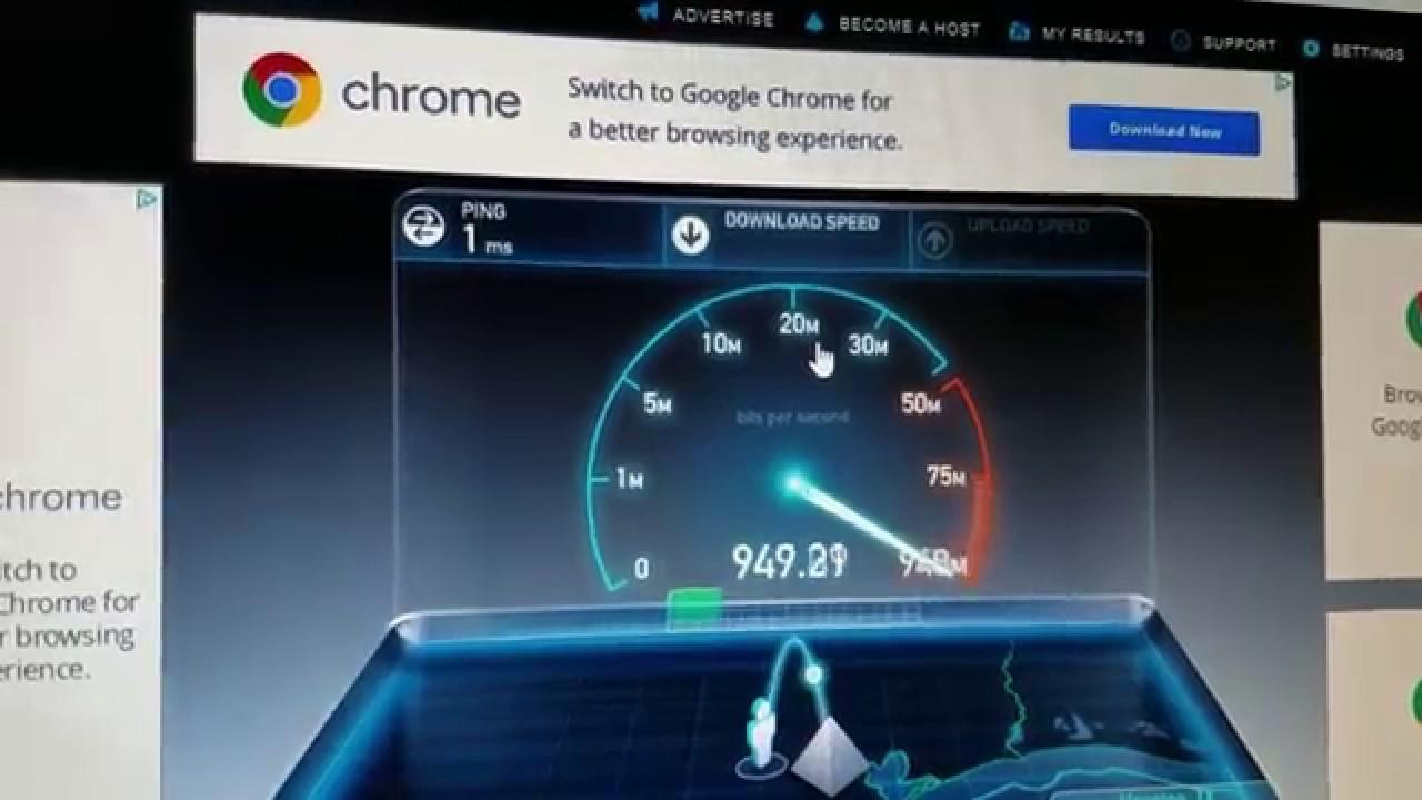 Gigabit Internet Speed Test - YouTube