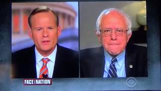 Bernie Sanders on Face the Nation 11-15-15