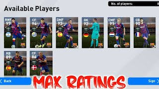 Upcoming Barcelona Club Selection Max Ratings | Pes 2020 Mobile | Full Details |