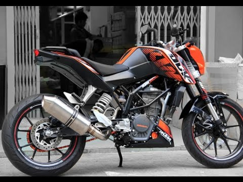 new imported ktm duke exhaust with akrapovic sound youtube. Black Bedroom Furniture Sets. Home Design Ideas