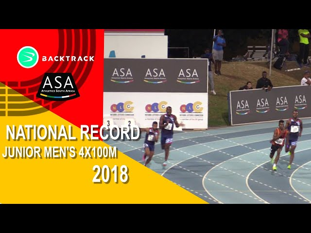 Junior men set new SA 4x100m record!