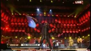 K'naan waves the Somali flag (World Cup 2010 opening)