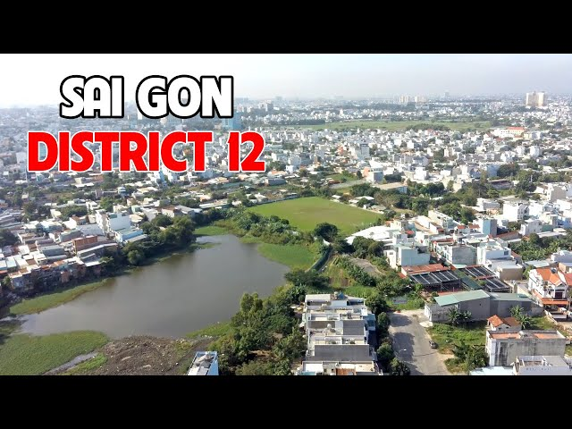 Panoramic view of Saigon - Ho Chi Minh City from above (shot by flycam Hubsan Zino Pro 4k)