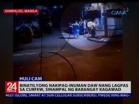 Binatilyong nakipag-inuman daw nang lagpas sa curfew, sinampal ng barangay kagawad