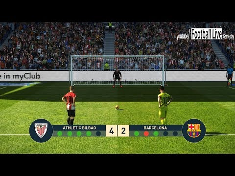 PES 2019 | Athletic Bilbao vs Barcelona | Penalty Shootout | Gameplay PC