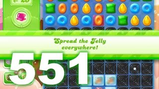 Candy Crush Jelly Saga Level 551 (3 star, No boosters)