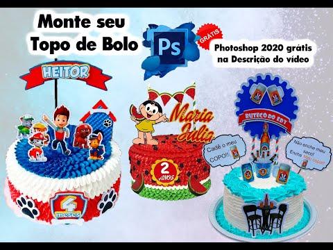 Como Editar Topos De Bolo, Imprimindo Na Medida Que Desejar Com Photoshop 2020!