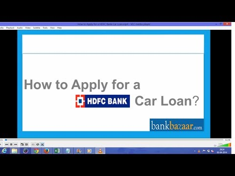 How To Apply For A HDFC Bank Car Loan