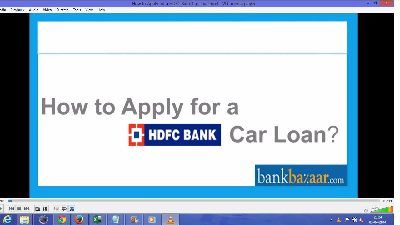 How to Apply for a HDFC Bank Car Loan - YouTube