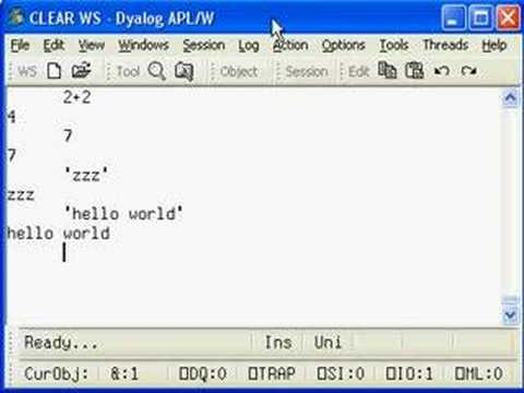Producing a standalone 'hello world' program in APL