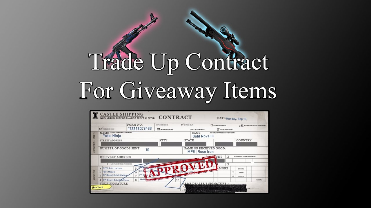 knife trade up contract