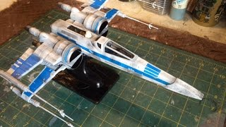Building Revell's Star Wars Resistance X Wing Fighter