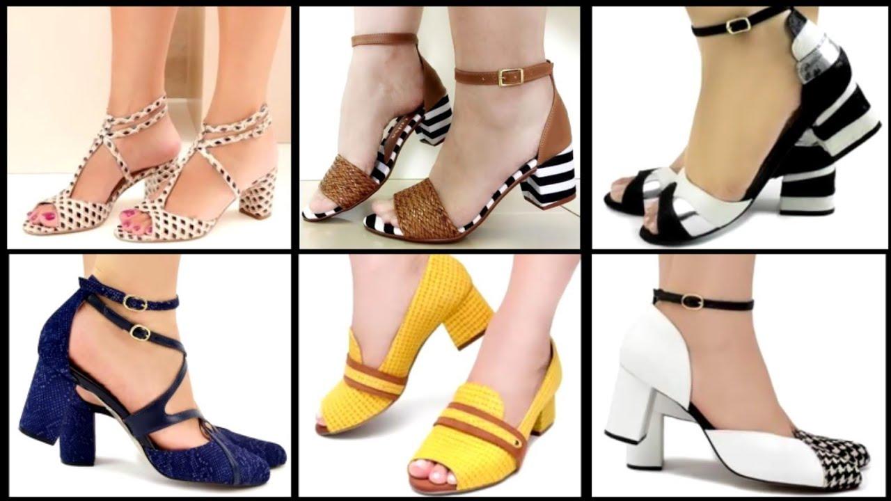 Low-Mid Heel Sandal Shoes Styles 2020