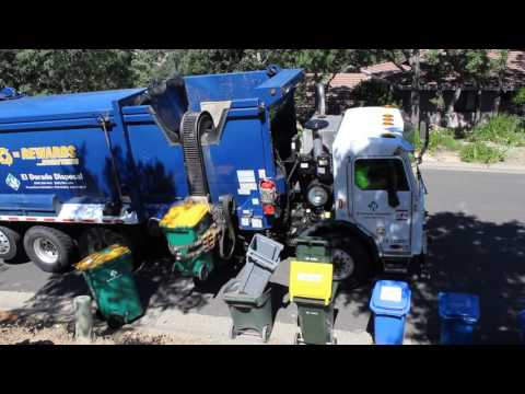 A Typical Garbage Day with NorCal Waste Trucks