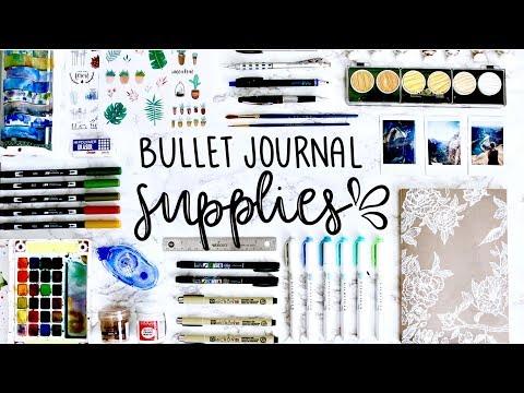 My Bullet Journaling Supplies 💕