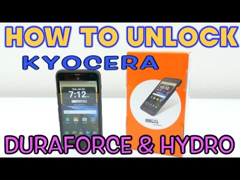 How to Unlock ALL Kyocera Duraforce & Hydro Models for ANY carrier (AT&T, Cricket, MetroPCS, ETC)