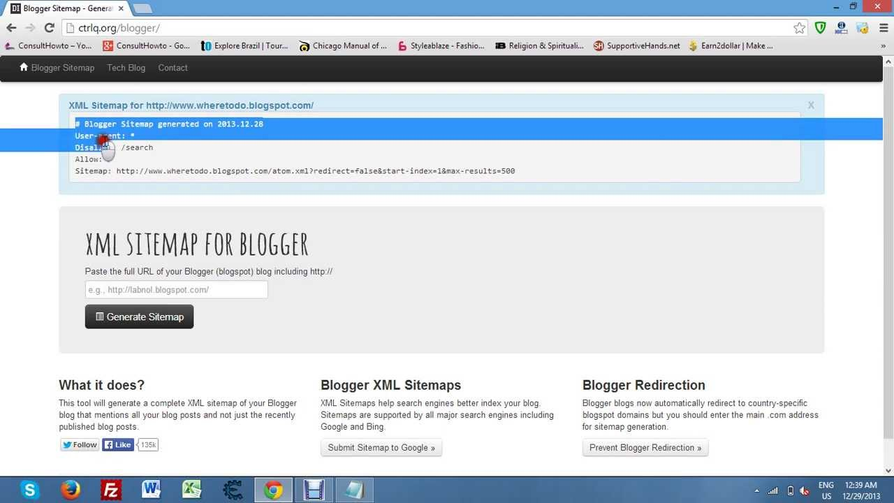 how to get xml sitemap for blogger youtube
