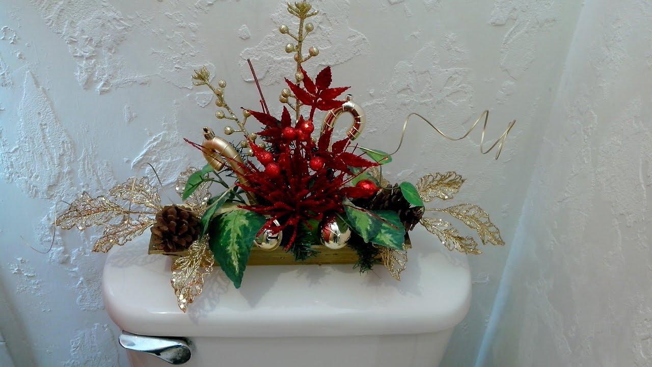 Haz un bonito adorno navide o para ba o youtube for Adornos navidenos para el bano