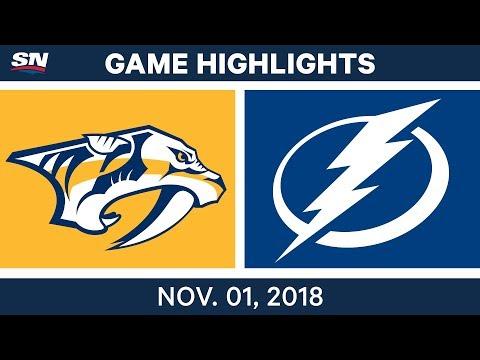 NHL Highlights | Predators vs. Lightning – Nov. 1, 2018