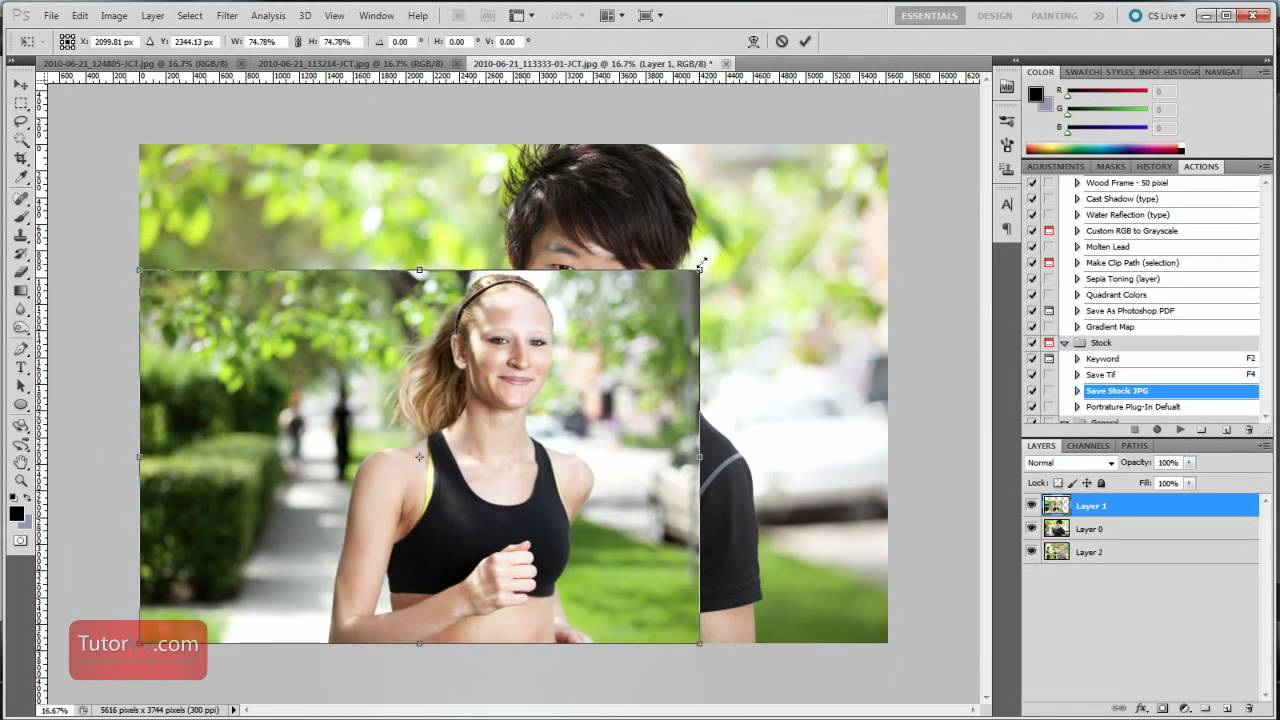 Image in photoshop an resize