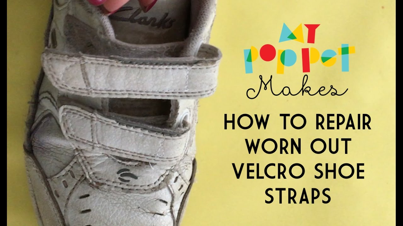 e5b61ef62e46 How to Repair Worn Out Hook and Loop Shoe Straps (VELCRO® Brand Fastener) -  YouTube