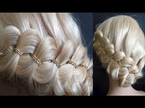 Schöne Frisur.Haare/Zopf an der Kopfhaut flechten.Cute Braid Hairstyle.Peinados