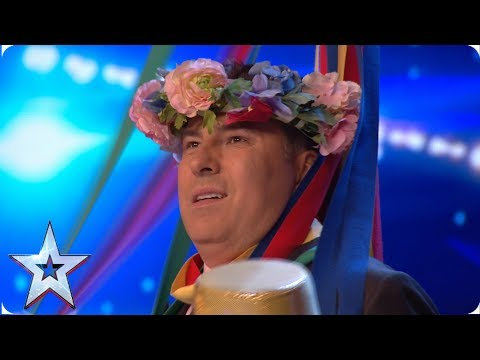 Judges get to grips with (May)pole dancing | Auditions | BGT 2019