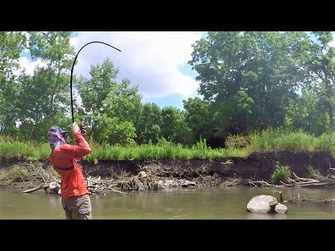 Fishing An Urban Stream For MEAN FISH!!! (Bobber Fishing)