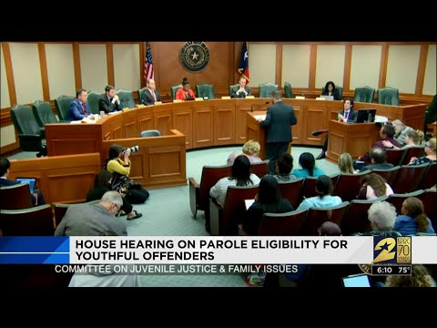 House hearing on parole eligibility for youthful offenders