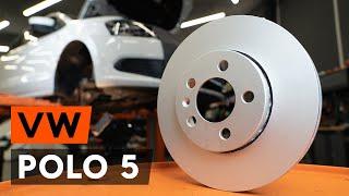 Hoe een vooraan remschijven op een VW POLO 5 (612) [AUTODOC-TUTORIAL]