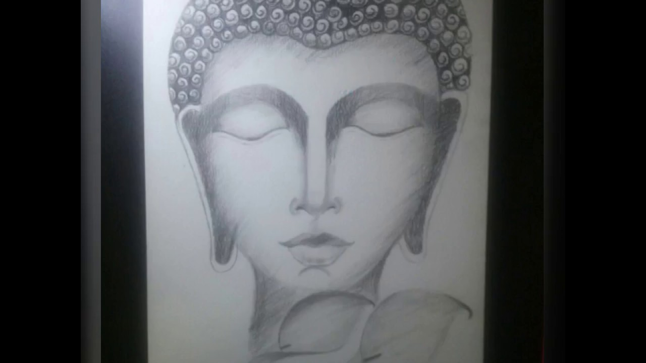 How to draw lord buddha pencil sketch pencil shading